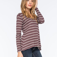 LIVING DOLL Waffle Knit Womens Swing Tee | Graphic Tees