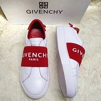 GIVENCHY Trending Women Men Stylish Leather Sport Shoes Sneakers White/Red