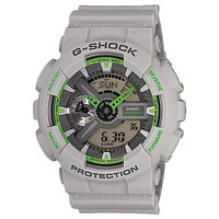 Casio G-Shock Matte Gray & Green Analog Digital Anti-Magnetic - 200m - WorldTime