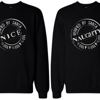 Christmas Gift for BFF - Naughty and Nice Sweatshirts for Best Friends