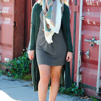 Love On The Brain Cardigan: Olive