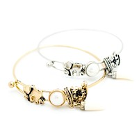 Elephant lucky bangle bracelet