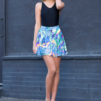 Psychedelic Science Skater Skirt