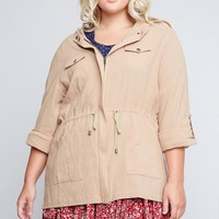 Plus Sized Cargo Jacket