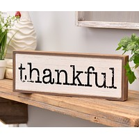 THANKFUL Sentiment Wall Decor