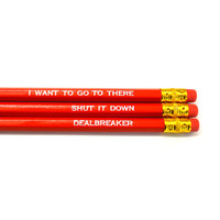 30 Rock pack of 3 red stamped pencils.