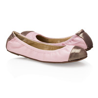 Emma Pink & Taupe Flats for Women