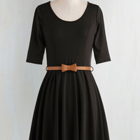 Minimal Short Length 3 Fit & Flare Abiding Beauty Dress in Black