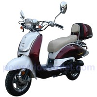 Roketa MCR-16C-150 4 Stroke 50cc Gas Scooter (95% Assembled Package) with Aluminum Rims and 2 Tone Color Available