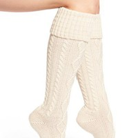 Free People Cable Knit Knee High Socks | Nordstrom