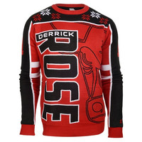 Chicago Bulls Derrick Rose #1 Official NBA Player Ugly Sweater