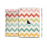 The Vintage Summer Colored Chevron V4 Full Body Skin Set for the Apple iPad Mini 2