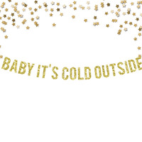 Baby It's Cold Outside Gold Banner