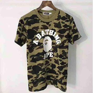 Bape Trending Fashion Casual Print Camouflage Logo Short Sleeve T-shirt G-ALG-CPFS