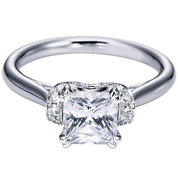 Gabriel Diamond Collar Diamond Engagement Ring