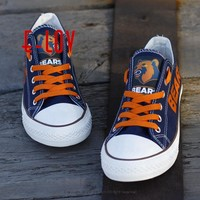 2017 New Chicago Bears Canvas Shoes US Football Team Fans Custom Logo Printing Casual Shoes Boys Man Painted Shoe Free Shipping