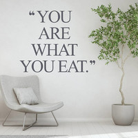 Fitness Quote Wall Decal, Inspirational Quote, Gym Wall Decal , Yoga Studio Wall Sticker, Health Quote Decor, Fitness Motivation Art  nm029