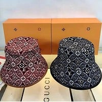 LV double faced fisherman hat