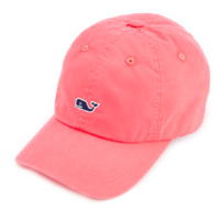 Vineyard Vines Signature Whale Logo Baseball Hat- Jetty Red