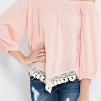 Sophia Top - Peach