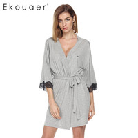 Women Sleepwear Nightwear Kimono Robe Soild Winter Autumn Casual Cotton Bathrobe Belt Elegant Bathroom Spa Robe