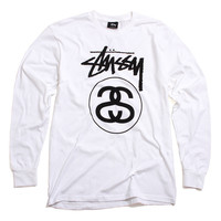 Stock Link Longsleeve T-Shirt White