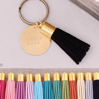 Delta Zeta Sorority Tassel Keychain | A-List Greek Designs