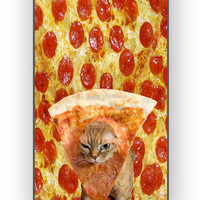 Pizza Cat Because Cat Love Pizza for iPhone 4/4S Case **