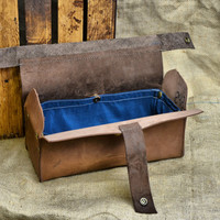 Leather Toiletry Kit - Toiletry Case - Leather Dopp Kit - Leather Toiletry Bag - Men's Wash Bag with Waterproof Removable Lining