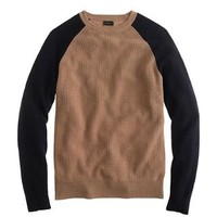 WOOL-CASHMERE WAFFLE SWEATER IN COLORBLOCK