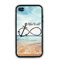 PERSONALIZED BEACH REFUSE TO SINK RUBBER SILICONE CASE FOR IPHONE 7 6S 6 SE 5S 5