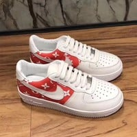 Louis Vuitton X Nike Women Men Fashion Casual Sneakers Sport Shoes