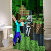 Minecraft Mine Craft Game shower curtain customized design for home decor