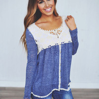 Blue Crochet Top