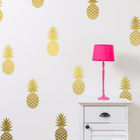 Pineapple Wall Decal Set