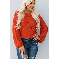 Corrine Knit Sweater (Bright Blaze)