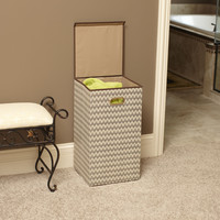 Household Essentials 5624 Collapsible Laundry Hamper With Lid