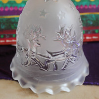 Lovely Mikasa Frosted Crystal Christmas Bell