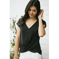 Laurel V-Neck Twist Front Top