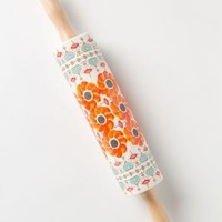 Poppy Ring Rolling Pin by Anthropologie Orange One Size House & Home