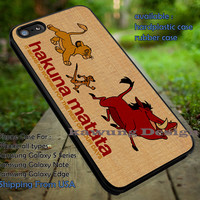 Lion King Hakuna Matata Quote iPhone 6s 6 6s+ 5c 5s Cases Samsung Galaxy s5 s6 Edge+ NOTE 5 4 3 #cartoon #disney #animated #theLionKing dt