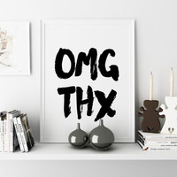 FUNNY WALL ART Omg Ths Funny Poster Room Decor Art Printable Art Inspirational Print Typography Poster Wall art Wall decor Digital download