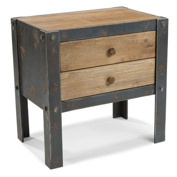 Bolt Side Table Wieh 2 Drawers - Moe's Home Collection