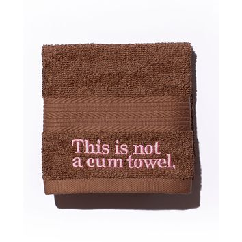 This is not a cum towel