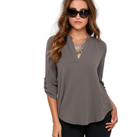 Autumn Women Blouses New Fashion V-neck Long Sleeve Solid Color Ladies Office Shirts Casual Tops blusas y camisas mujer XYFS3071