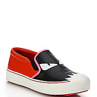 Fendi - Monster Leather Skate Shoes - Saks Fifth Avenue Mobile