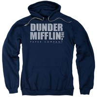 The Office - Dunder Mifflin Distressed Adult Pull Over Hoodie Officially Licensed Apparel