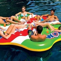 World Of Watersports WOW 6 Person Tube A Rama Float With Center Cooler