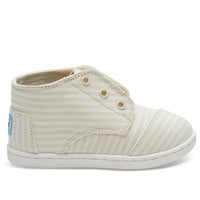 TOMS White Canvas Stripes Tiny TOMS Paseo Mids No color specified