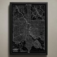 Map Print, BALTIMORE
